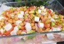 Ensalada de garbanzos con aguacate y queso feta