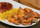 Alitas de pollo al horno con miel y ketchup