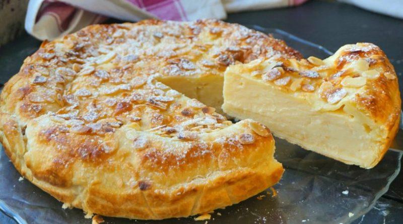 Tarta de hojaldre y crema